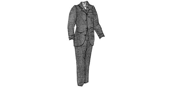 Amazon.com: 1894 de los hombres café saco Suit Pattern: Clothing