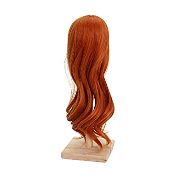 Fibre Craft Doll Long Straight Black Synthetic Wig 11 1//2 In Head New in Package