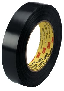 3M 481 Rubber Preservation Sealing Adhesive Tape, 170 Degree F Performance Temperature, 9.5 mil Thick, 36 yds Length x 2
