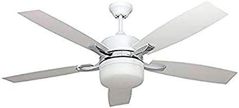 Ventilador de techo con luz Serie MENFIS blanco