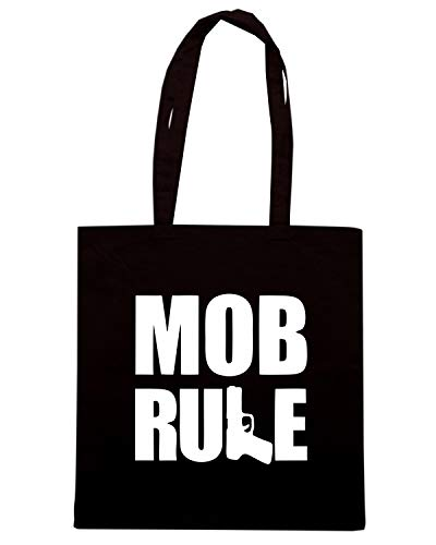 Borsa Shopper Nera OLDENG00584 MOB RULE HAND GUN