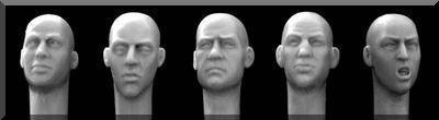 54mm Figurines H3202-5 replacement heads for 1:32nd