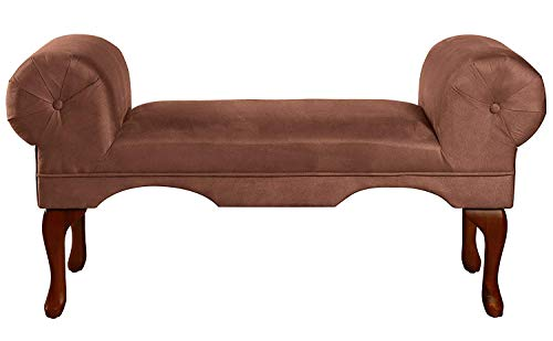 Bench Chocolate - ACME 05626 Aston Microfiber Rolled Arm Bench, Chocolate Finish