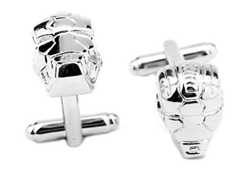 Athena Brands Iron Man Fashion Novelty Cuff Links Movie Comic Series with Gift Box (Real Metal Iron Man Suit For Sale)