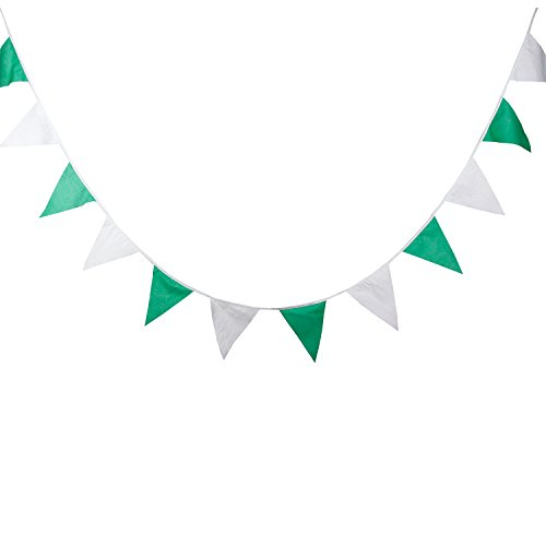 green and white streamers - 2