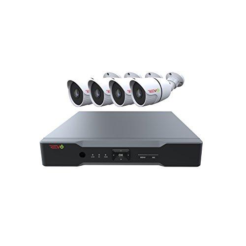 REVO America Aero HD 4 CH Four Megapixel DVR, 1TB HDD & 4X 1080p Indoor/Outdoor IR Bullet Cameras - Remote Access - Backward Compatible with Standard Digital Cameras.