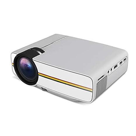 ZZKK Proyector LED Micro proyector portátil Mini proyector de ...