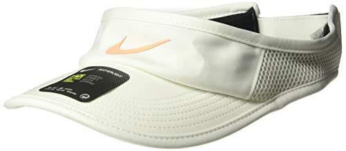 Nike Women's Arobill Featherlite Visor Adjustable, Sail/Orange Pulse, Misc