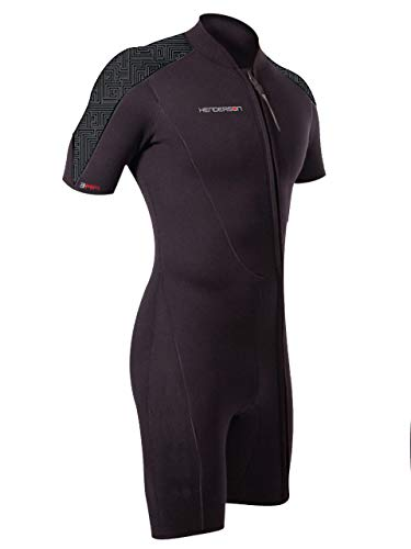 Henderson Thermoprene PRO Mens 3mm Front Zip Shorty Wetsuit L-Short - Shorts Mens Shorty