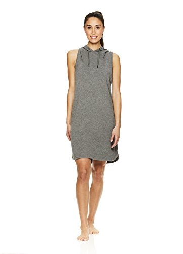 Gaiam Women's Stella Casual Strappy Sports Dress w/Side Slits - Flint Grey Heather, ()