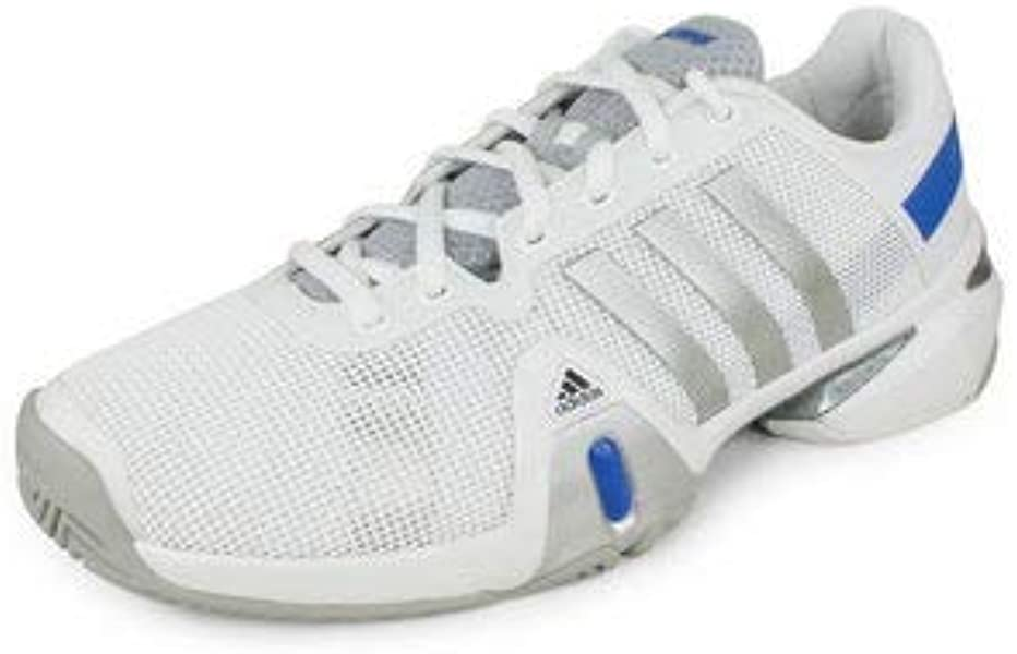 e0f657cee Adidas Men s Adipower Barricade 8 Tennis Shoe-Running White Metallic ...