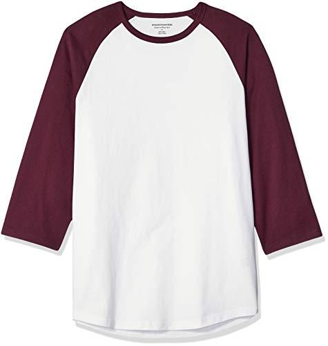 Amazon Essentials Mens Regular-fit 3/4 Sleeve Baseball T-Shirt
