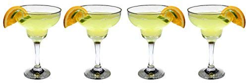 SET of 4-pc Luminarc 12 Oz Classic Margarita Cocktail Glasses on a stem