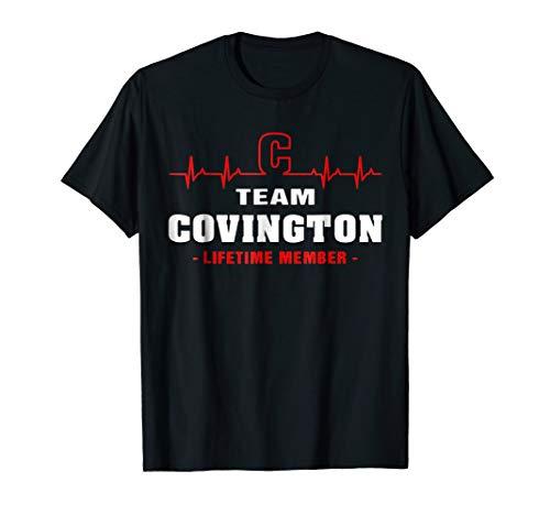 Team Covington lifetime member shirt surname last name ()