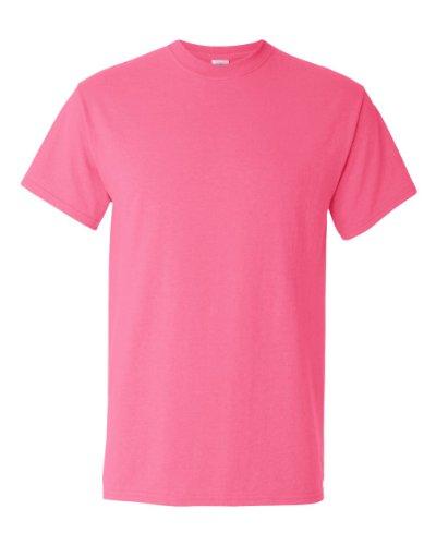 Homme À shirt Gildan Sécurité Rose Manches Courtes T qz8ywEX
