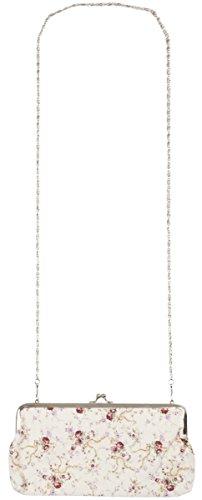 Clayre & Eef FAP0044 borsa portafoglio Custodia Portafoglio con tracolla spalla collana fiori ca, 25 x 12 cm