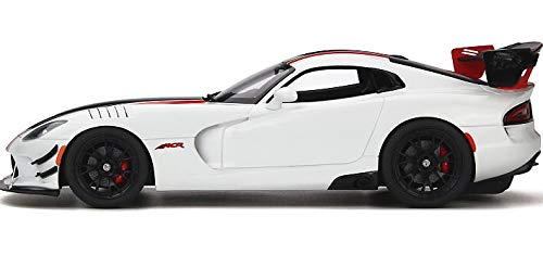 2016 Dodge Viper ACR Viper White with Black and Red Stripes Limited Edition to 999 Pieces Worldwide 1/18 Model Car by GT Spirit GT181 by GT Spirit (Image #4)