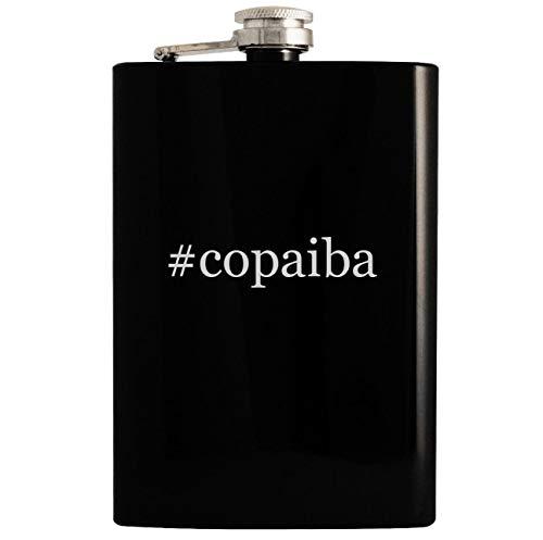 #copaiba - Black 8oz Hashtag Hip Drinking Alcohol Flask ()