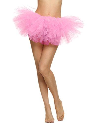 Vintage jupe Femmes 5 Tutu Rose Ballet Butterme tutu jupe tutu BubbleTutu ballet jupon court jupe xvpnXX1