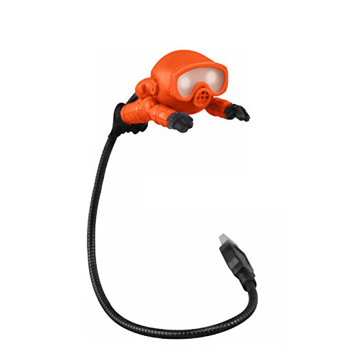 USB Reading Light with LED Bright Lamp and Flexible Gooseneck - Cute Scuba Diver No Batteries Needed PC & Mac Compatible 360 Degree Adjustable Cord Portable