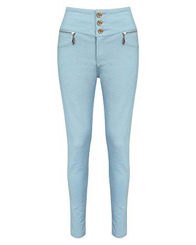 SheLikes Jeans unique Bleu taille Femme Ciel rgdzqrZ