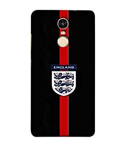 ColorKing Football England 23 Black shell case cover for Xiaomi Redmi Note 4
