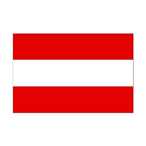 Republic of Austria Country Pride Flag Full Color - Vinyl Decal for 13
