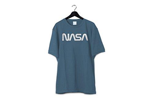 351a8b771 Revel Shore Men's Retro Vintage NASA Worm Logo Premium Soft T-Shirt ...