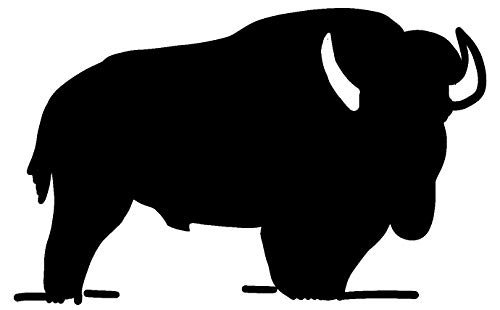 hBARSCI Bison Vinyl Decal - 5 Inches - for Cars, Trucks, Windows, Laptops, Tablets, Outdoor-Grade 2.5mil Thick Vinyl - Black ()