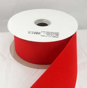 Embassy Red Velvet Christmas Ribbon 2 1/2'' or #40 - 25 Yards - Case of 12 Rolls