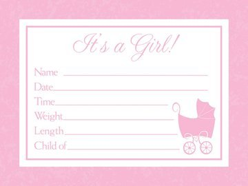 Baby Love Pink Announcements