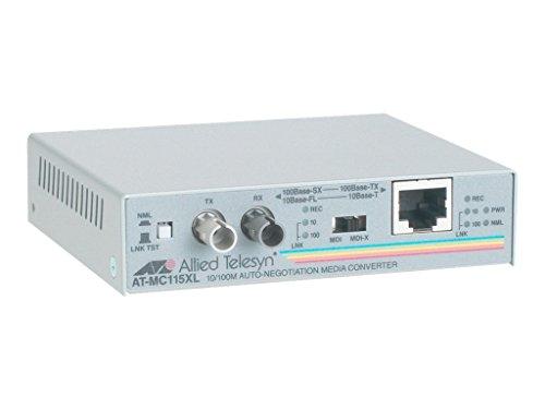 (Allied Telesis AT-MC115XL 10/100TX to 10FL/100SX standalone media converter)