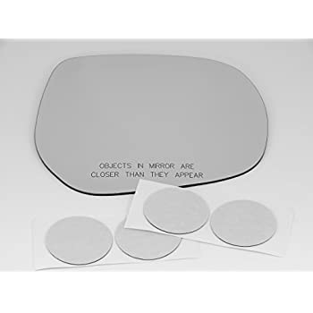 01-07 Toy Highlander Land Cruiser Right Passenger Convex Mirror Glass Lens w//Adhesive USA no rear backing plate