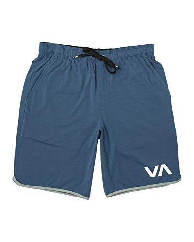 (RVCA VA Sports Short Workout Leisure Short (Surplus Blue,)