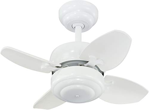 Monte Carlo 4MC20WH Mini 20 Ceiling Fan with Pull Chain for Small Space, 4 Blades, White