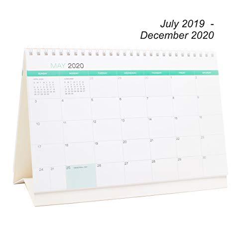 Desk Calendar From July 2019 Through December 2020 - 18 Months Classic Flip Calendar - Monthly Calendar Planner - Daily Planner - Desktop Calendar 2019-2020 - Tent Flip Calendar - Office Calendar (Best Wall Tent 2019)