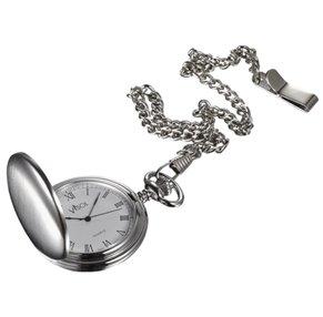 Visol Scipio Brushed Chrome Quartz Pocket Watch