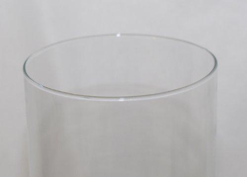 hauteur 40/cm diam/ètre 15/cm Zelda Bomboniere cylindrique en verre transparent