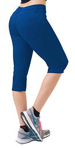 Spring Capri Jeans - Hybrid & CO. Women's Butt Lift Super Comfy Stretch Denim Capri Jeans Blue 22