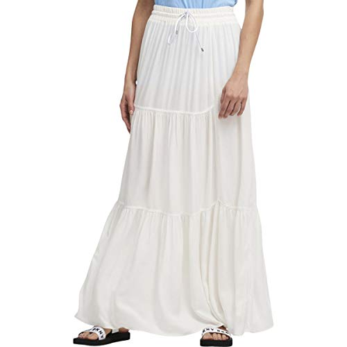 DKNY Womens A-Line Long Maxi Skirt Ivory XS Dkny Jeans Womens Skirt