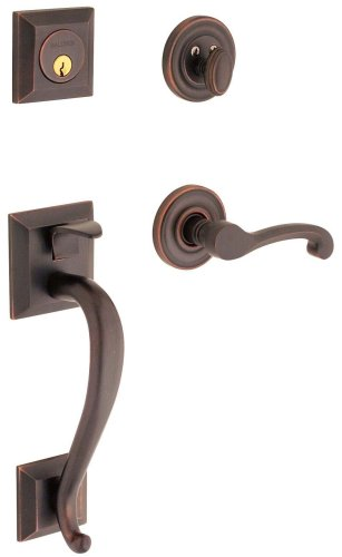 Baldwin 85320.112.RENT Madison Sectional Trim Right Hand Handleset with Classic Lever, Venetian (Sectional Handleset)