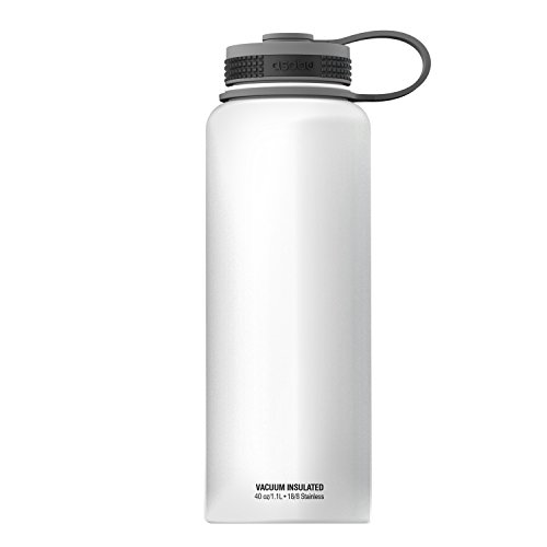 Asobu, The Mighty Flask, Wide Mouth Insulated Water Bottle, Stainless Steel, 40 oz.