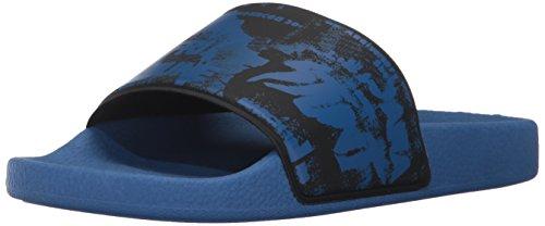 必要とする聴覚障害者ヘッドレス(ディーゼル) DIESELメンズ グラフィックプリントサンダル A-LOHAA SA-MARAL - sandals