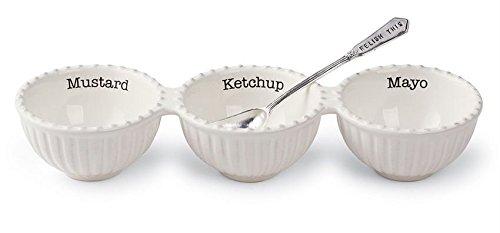 Triple Relish Set w/ spoon Mud Pie