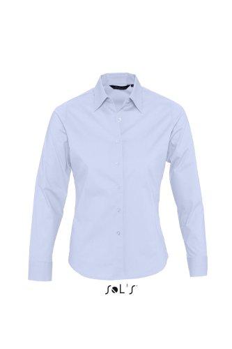 Sol 's–Ladies Long Sleeved Stretch Camiseta Eden cielo brillante