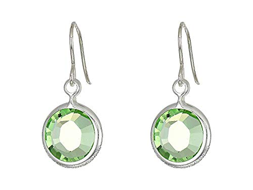 Alex and Ani Women's Swarovski Color Code Earrings August/Peridot Color/Shiny Silver One Size