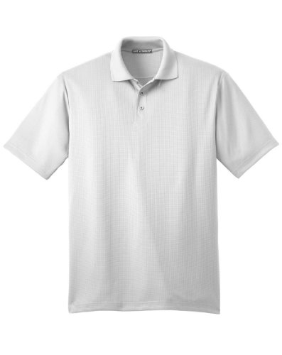 Port Authority Performance Fine Jacquard Sport Shirt, XL, White