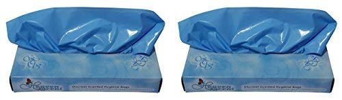 Heaven Scent Scented Hygiene Bags, 100 Total Bags (Pack of 2) for Disposal of Adult Diapers Feminine and Incontinence Products