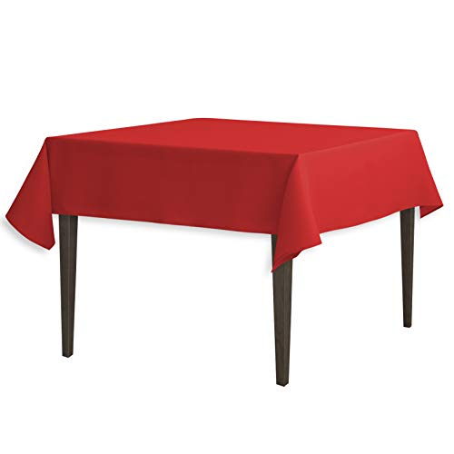 LinenTablecloth 54-Inch Square Polyester Tablecloth Red