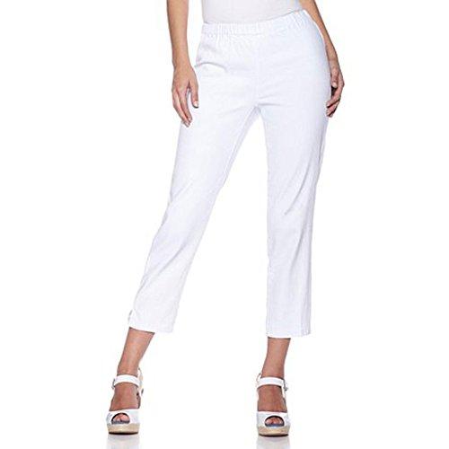 Chic Jegging Capri Pants Plus Size by Diane Gilman, White, Petite 2XL